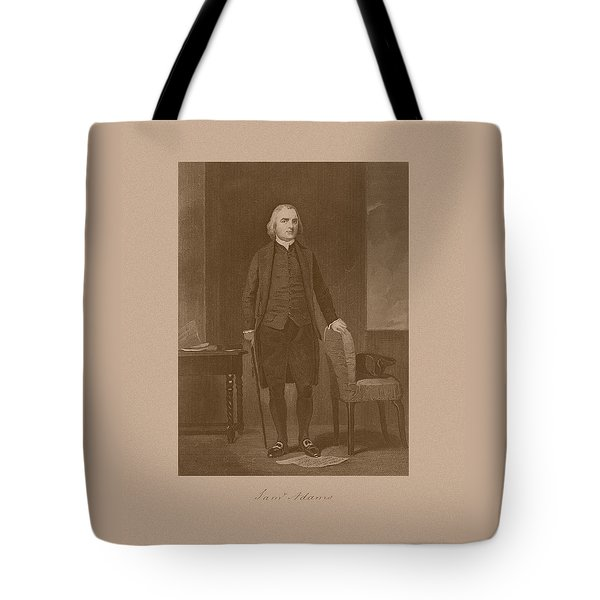Founding Father Samuel Adams Tote Bag by War Is Hell Store