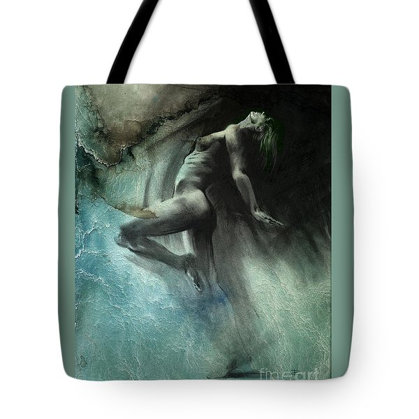 Tote Bag featuring the drawing Fount I - Textured by Paul Davenport