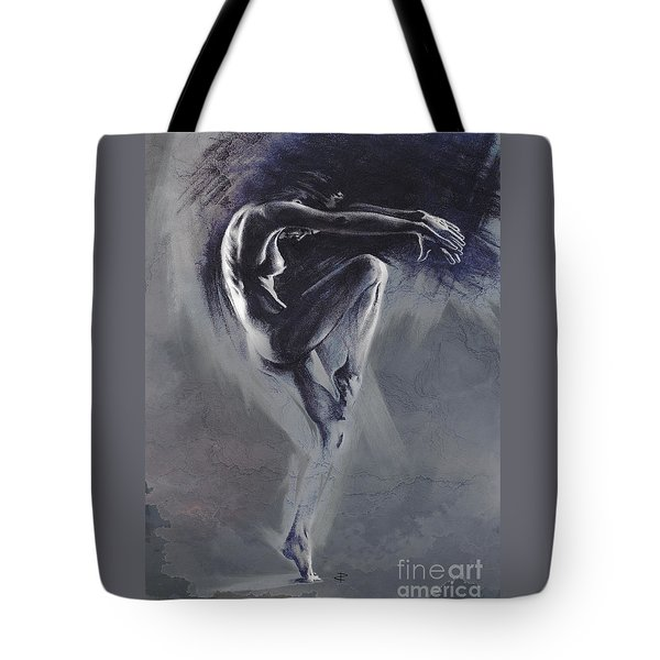 Fount II. Textured B. Tote Bag by Paul Davenport