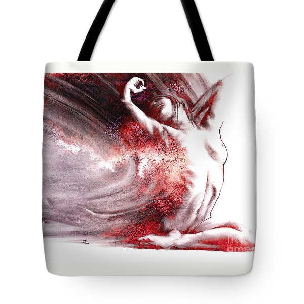Fount Iv Textured Tote Bag by Paul Davenport