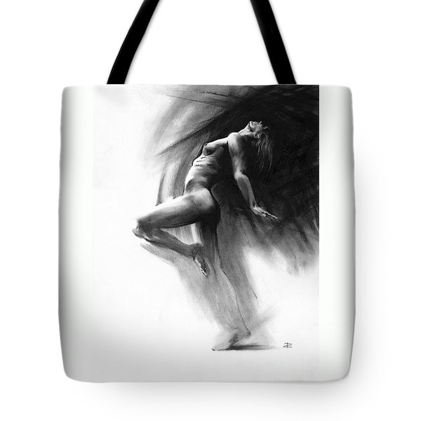 Tote Bag featuring the drawing Fount by Paul Davenport
