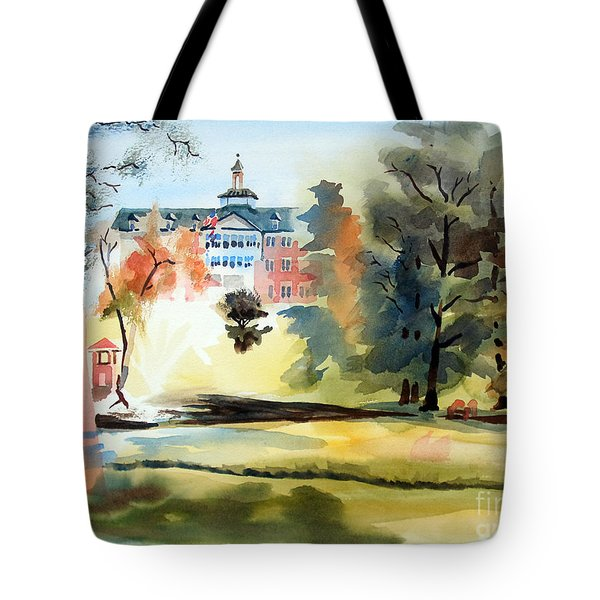 Fountain At The Baptist Home Tote Bag by Kip DeVore