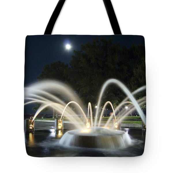 Fountain Charleston Waterfront Park Tote Bag