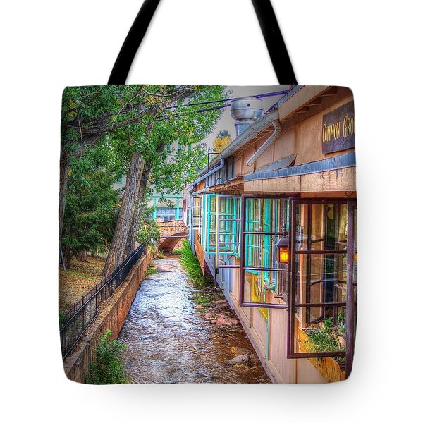 Tote Bag featuring the photograph Fountain Creek Behind The Avenue by Lanita Williams