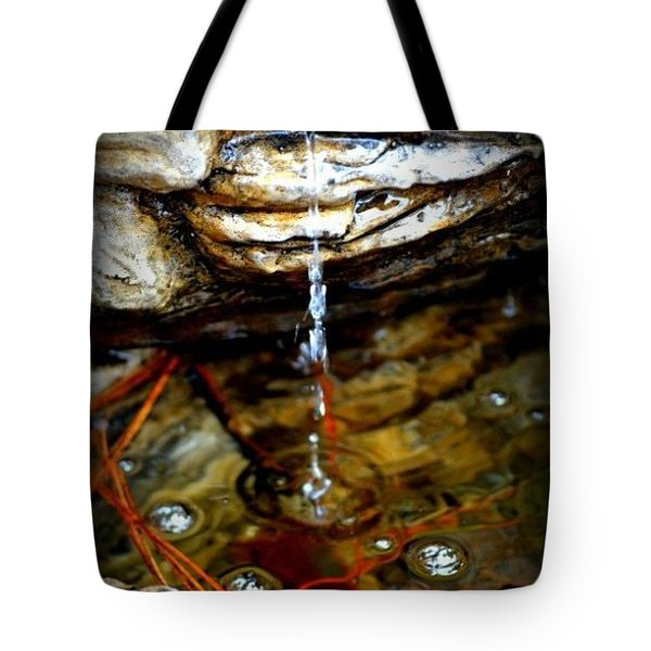 Tote Bag featuring the photograph Fountain Drops by Tara Potts