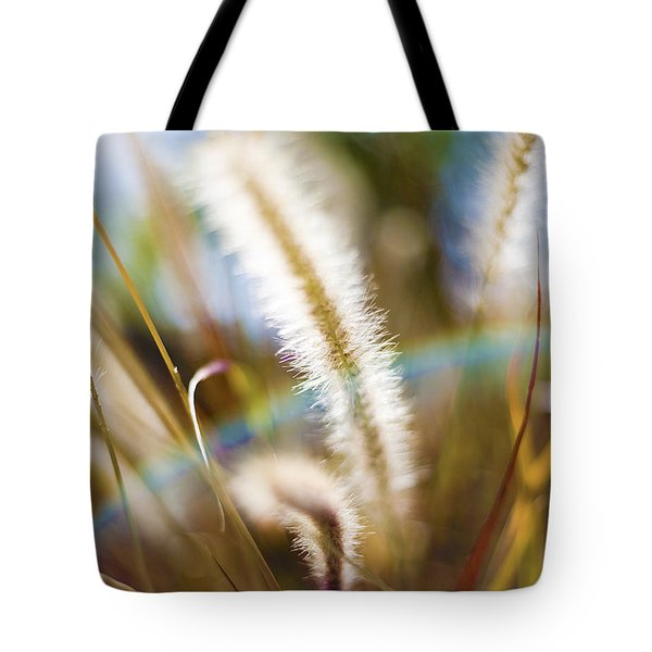Tote Bag featuring the photograph Fountain Grass by Richard J Thompson
