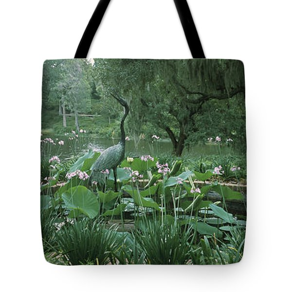 Fountain In A Garden, Middleton Place Tote Bag