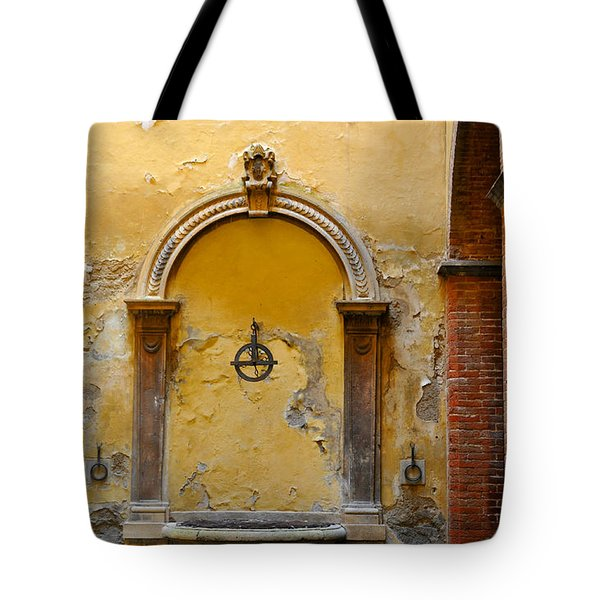 Fountain In Sienna Tote Bag