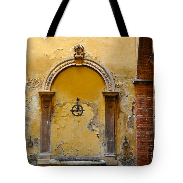 Tote Bag featuring the photograph Fountain In Sienna by Susie Rieple