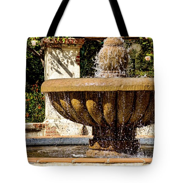Fountain Of Beauty Tote Bag by Peggy Hughes