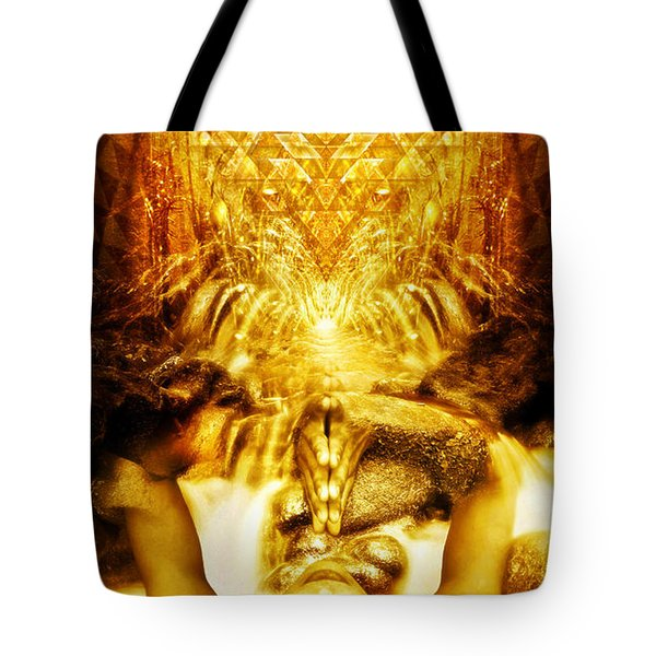 Fountain Of Boundless Love Tote Bag by Jalai Lama