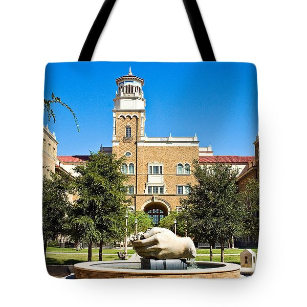 Tote Bag featuring the photograph Fountain Of Knowledge by Mae Wertz