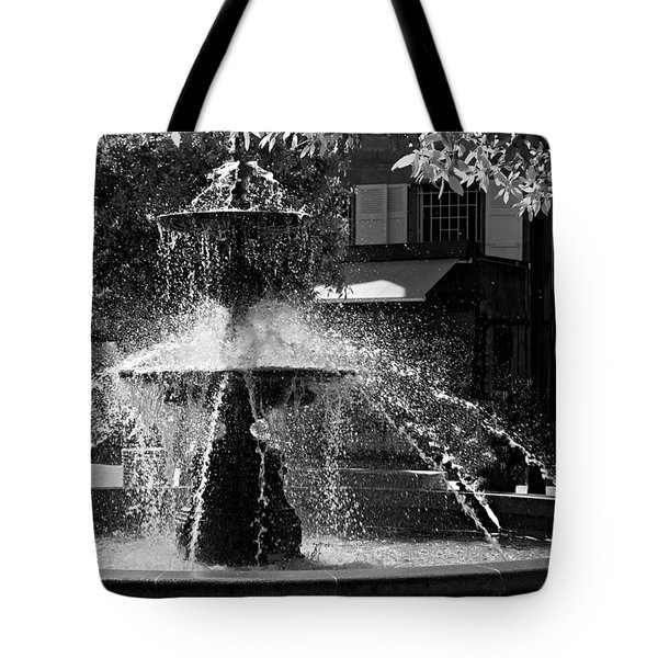 Fountain On Place Toulzac / Brive La Gaillarde Tote Bag