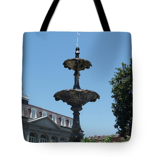 Tote Bag featuring the painting Fountain  by Robin Maria Pedrero