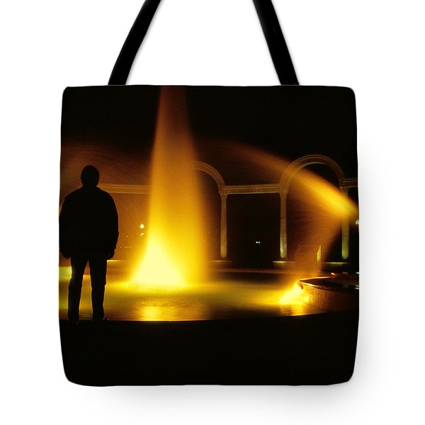 Fountain Silhouette Tote Bag by Jason Politte