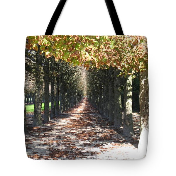 Tote Bag featuring the photograph Fountainebleau - Under The Trees by HEVi FineArt