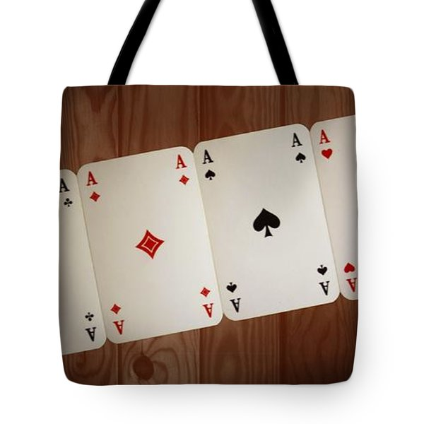 The Four Aces Tote Bag by Daniel Precht