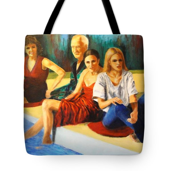 Four At A  Pool Tote Bag