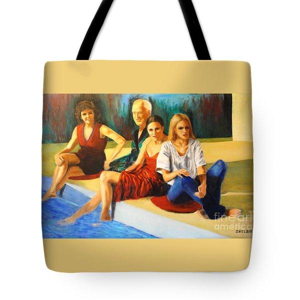 Four At A  Pool Tote Bag