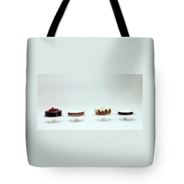 Four Cakes Side By Side Tote Bag