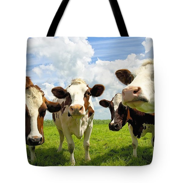 Four Chatting Cows Tote Bag