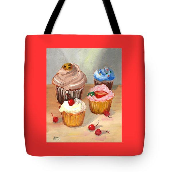 Four Cupcakes Tote Bag