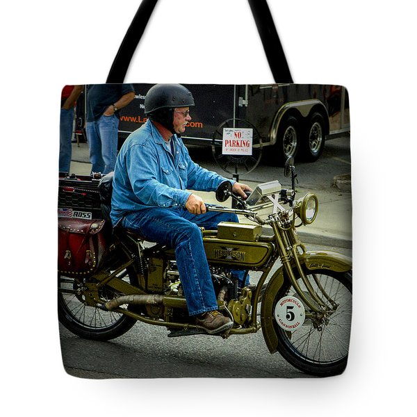 Four Cylinder Henderson Motorcycle Tote Bag