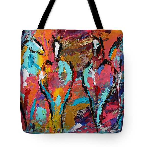 Four In A Row Horse 27 2014 Tote Bag
