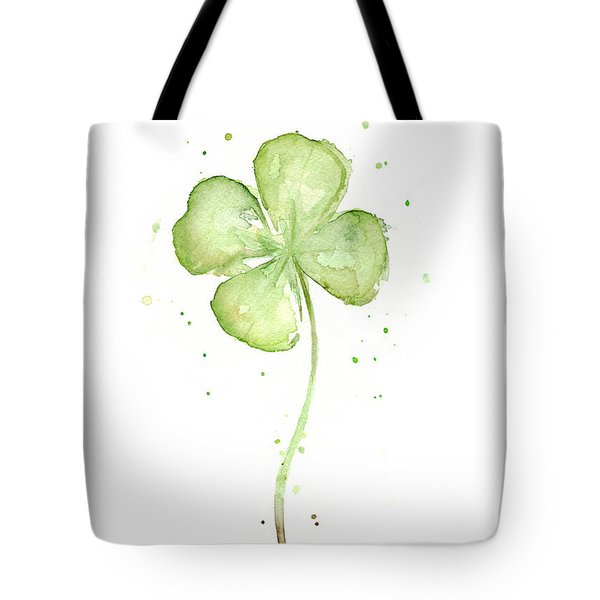 Four Leaf Clover Lucky Charm Tote Bag