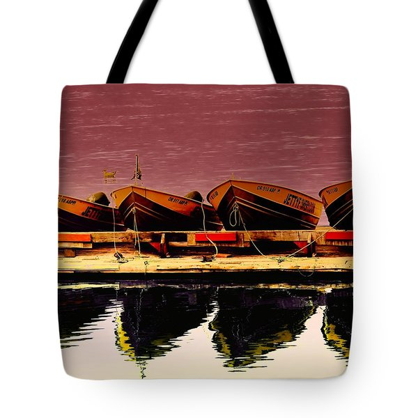 Four Little Boats Tote Bag