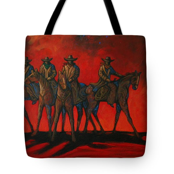 Four On The Hill Tote Bag by Lance Headlee