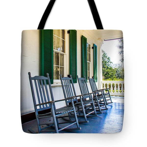 Four Porch Rockers Tote Bag by Perry Webster