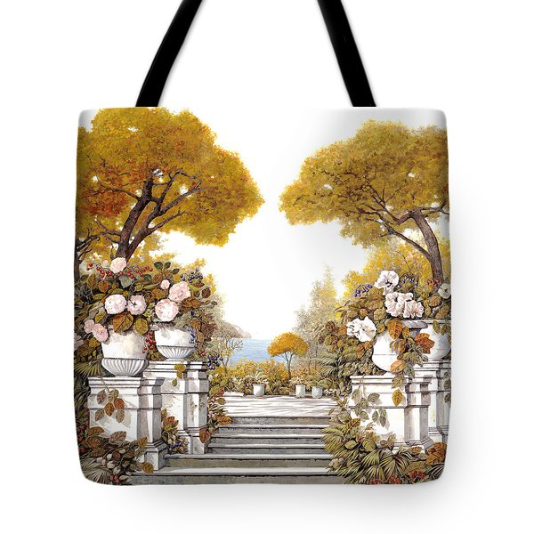 four seasons-autumn on lake Maggiore Tote Bag by Guido Borelli