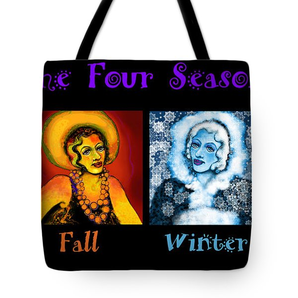 Four Seasons In A Row Tote Bag by Carol Jacobs