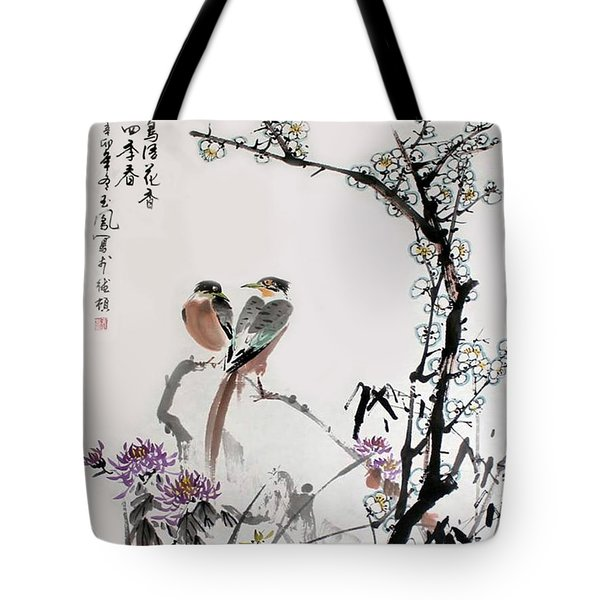 Four Seasons In Harmony Tote Bag