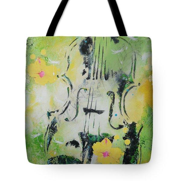 Four Seasons Spring Tote Bag by Bitten Kari