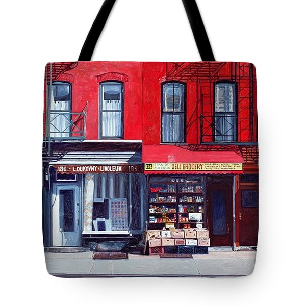 Four Shops On 11th Ave Tote Bag by Anthony Butera