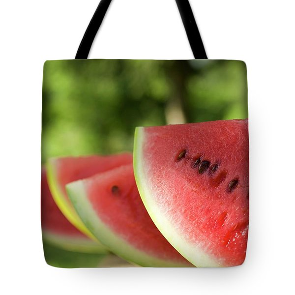 Four Slices Of Watermelon Tote Bag
