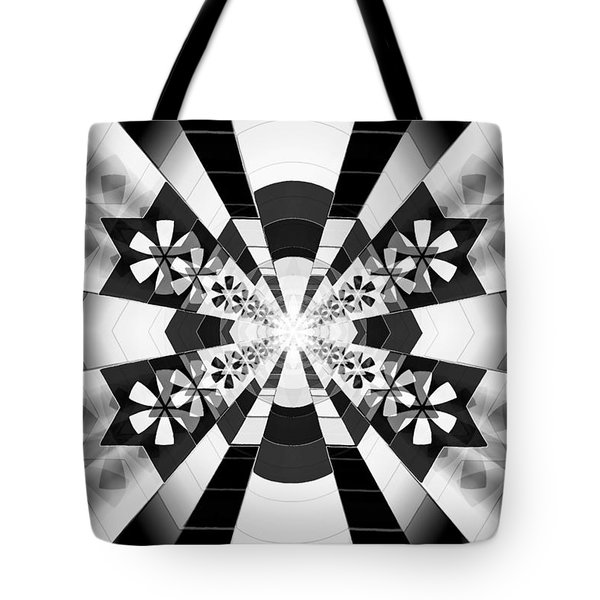 Tote Bag featuring the drawing Four Star Gateway by Derek Gedney