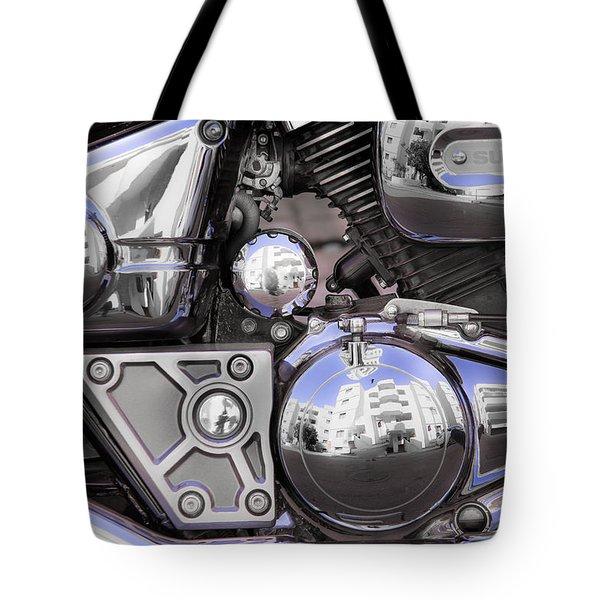 Four-stroke Tote Bag by Edgar Laureano