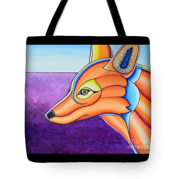 Tote Bag featuring the painting Fox 1 by Joseph J Stevens