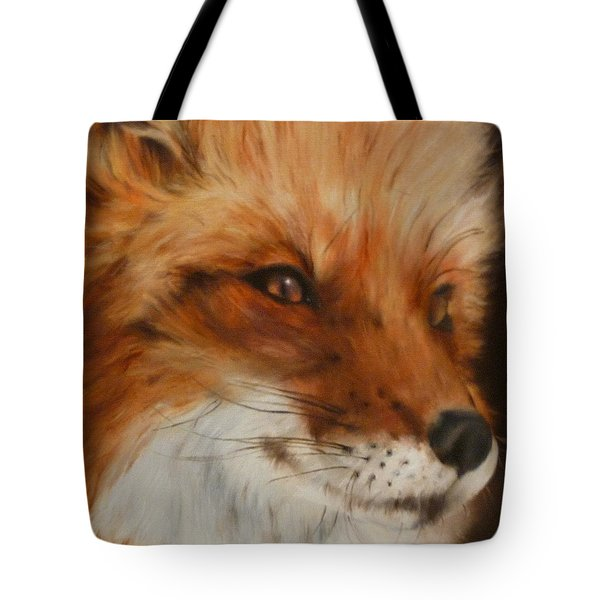 Tote Bag featuring the painting FoX by Cherise Foster