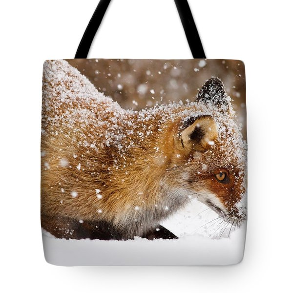 Fox First Snow Tote Bag