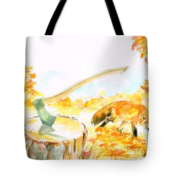 Fox In Autumn Tote Bag