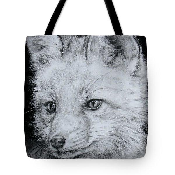 Fox Kit Tote Bag by Jean Cormier