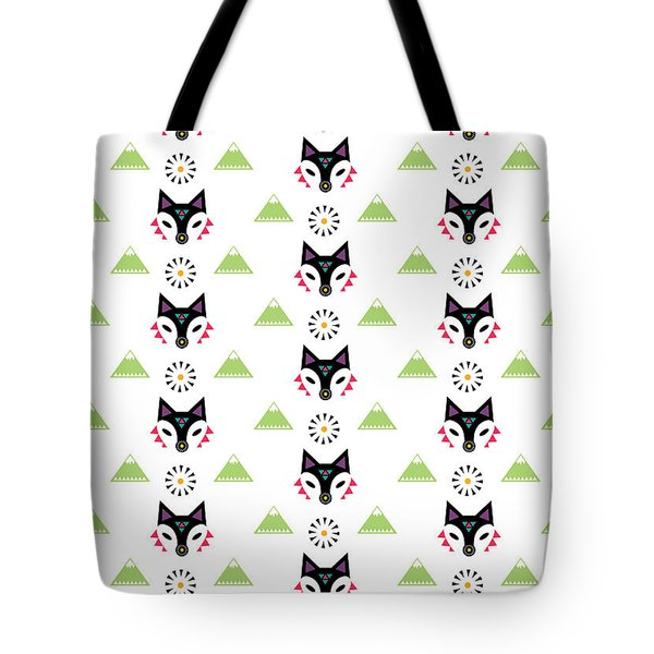 Fox Mountain Tote Bag