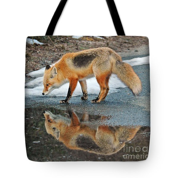 Fox Reflection Tote Bag