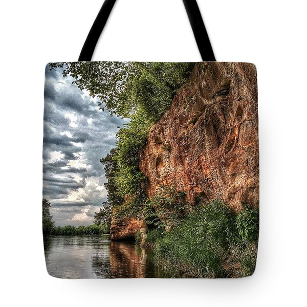 Fox River Cliffs Tote Bag