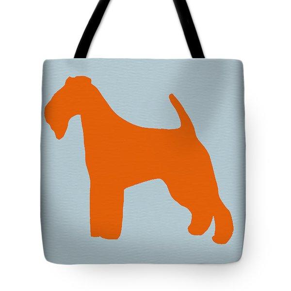 Fox Terrier Orange Tote Bag by Naxart Studio