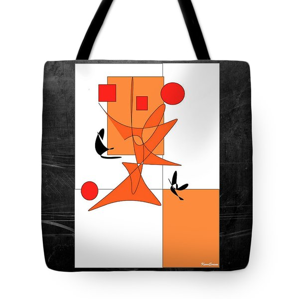 Tote Bag featuring the digital art Foxes Have Holes by Karo Evans